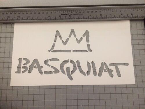 Basquiat Street Art Stencil Large