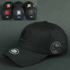 Ball Baseball Cap BS all BLACK S-M  Hat Flex Fit Sports Outdoor Fashion Trucker