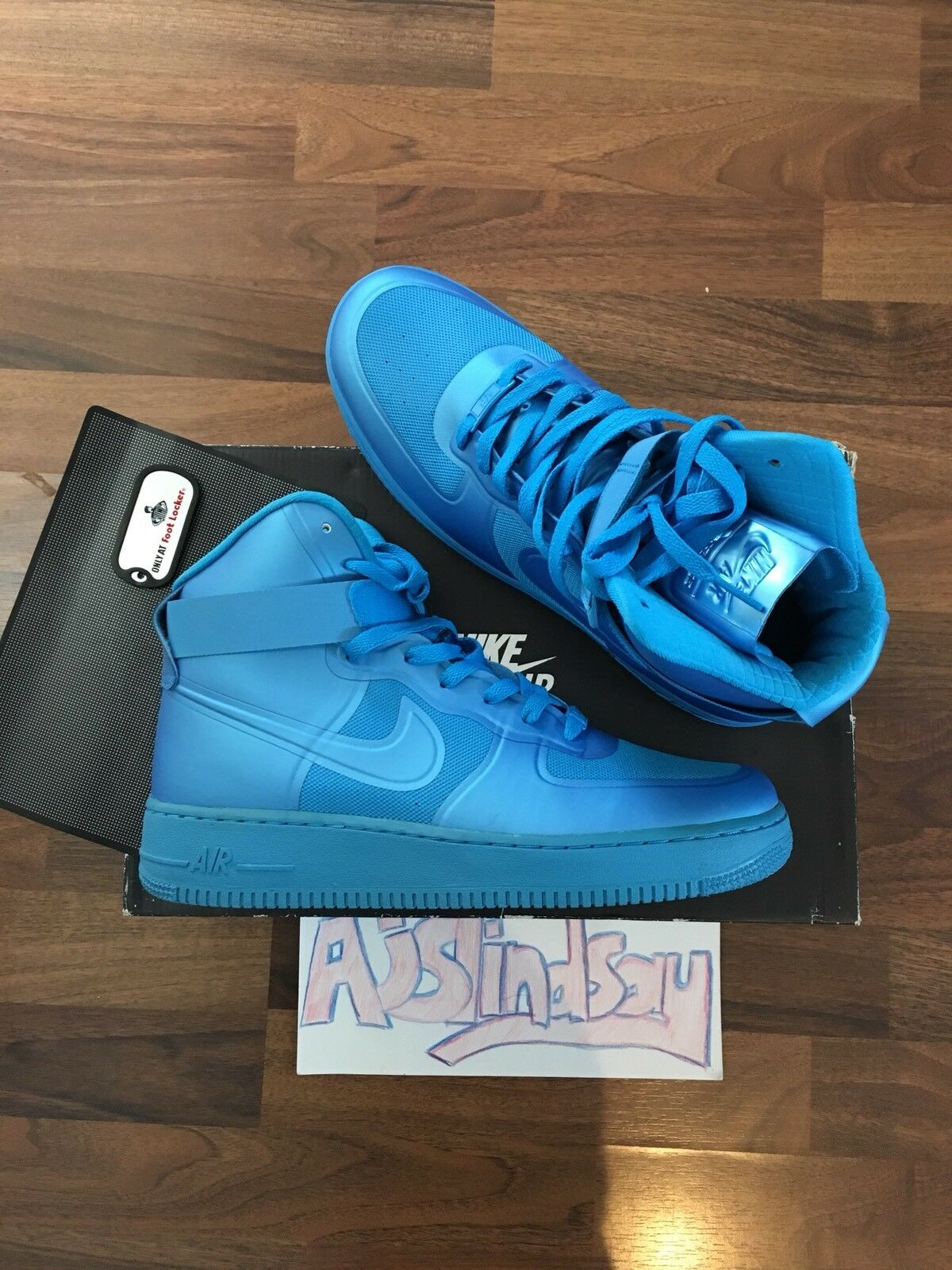 Nike Nike Nike air force 1 hi hyp prm blaue leuchten hyperfuse 2011 uk8 us9 56bf5b