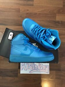 d4533409f32e NIKE AIR FORCE 1 HI HYP PRM BLUE GLOW HYPERFUSE 2011 UK8 US9