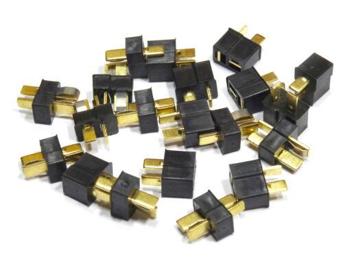 Mini T-Stecker Buchse Nylon Dean T-Plug T-Connector Lipo ESC RC Schwarz Black