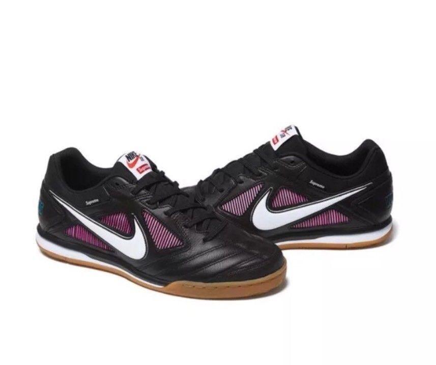 BRAND NEW Supreme x Nike SB Gato SIZE 9 Black + Bag + 2 Sticker100% Authentic
