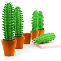 1 Pc 0.7mm Plastic Cute Cactus Shaped Ballpoint Pen Stationary School Supplies