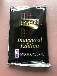1990-SKYBOX-Inaugural-Edition-15-NBA-BASKETBALL-TRADING-CARDS-PACK-NEW