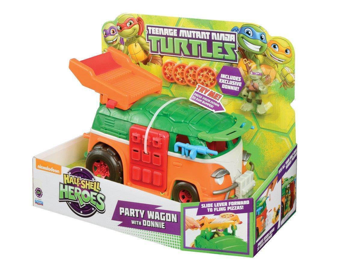 Teenage Mutant Ninja Turtles Half-Shell Héros Fête Wagon Véhicle avec Donnie