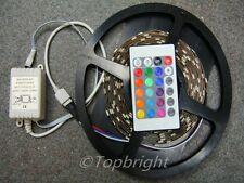 5M 500cm SMD 5050 RGB 300 LED Strip + IR Remote