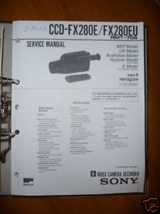 Tv, Video & Audio Willensstark Service-manual Für Sony Ccd-fx280e/eu Handycam Original