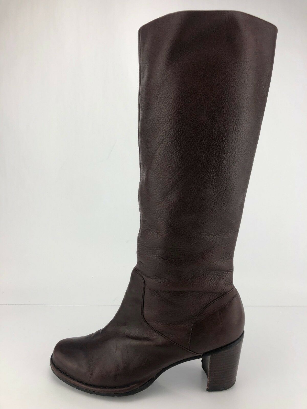 Indigo by Clarks Knee High Boots Boots Boots Pull Up Brown Leather Heel Booties Womens 8 M 7ab4e0