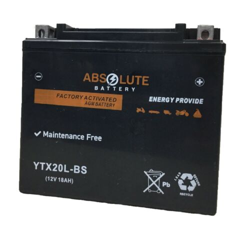 New YTX20L-BS Battery For Harley-Davidson 1584 FXST Softail 2007-2011 Motorcycle