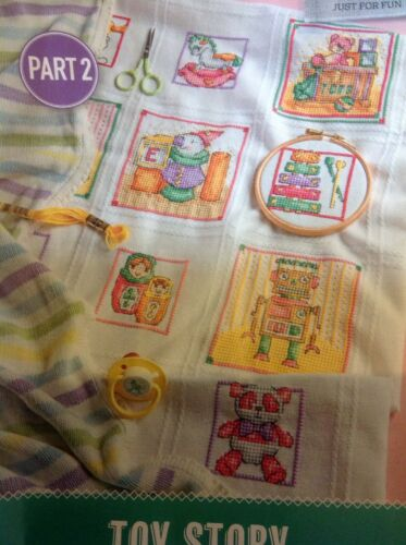 all 4 parts Cross Stitch Chart D Toy Box Nursery Afghan Sampler Blanker
