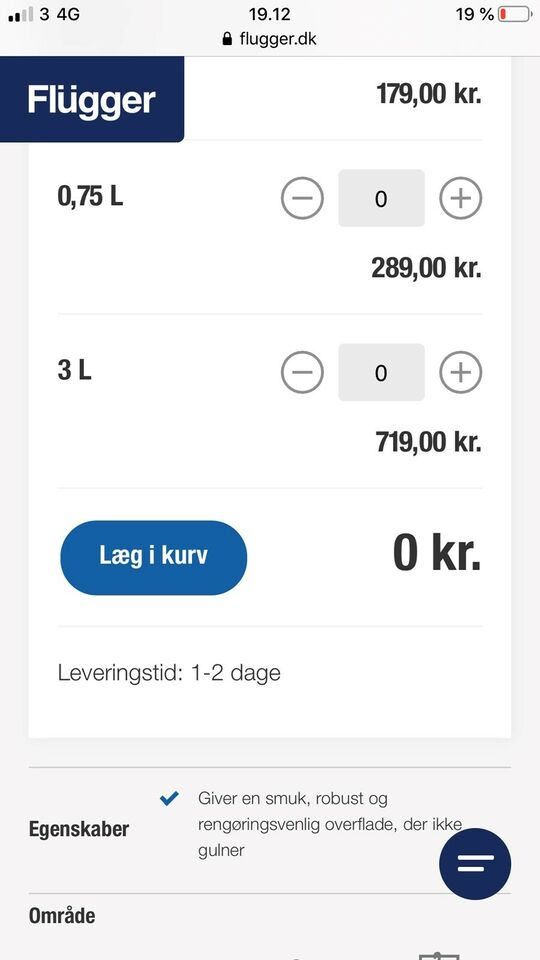 Lak, Flügger, 2x3L liter