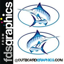Pair of full colour Bayliner Trophy Marlin stickers/decals