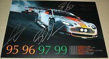 Le Mans FIA WEC 2013 Aston Martin Racing AMR GTE PRO #97 Bruno Senna Signed Card