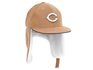 Cincinnati Reds MLB Dabu Dogear Ear Flap New Era Wheat Fitted ... 09d63ea20bb0