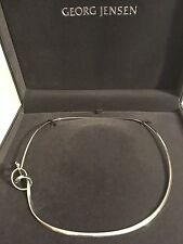 Georg Jensen Forget-Me-Knot Neck Ring - Sterling Silver