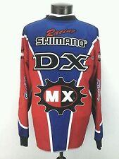 SHIMANO No Fear Vintage Racing Mens Motocross Long Sleeve Shirt Jersey Large USA