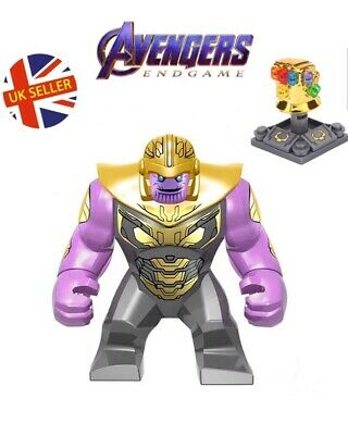 New Marvel Avengers THANOS Infinity Gauntlet Custom Minifigure Sealed US SELLER