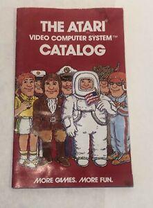 The Atari Video Computer System Catalog 20 Game Cartridges 1978