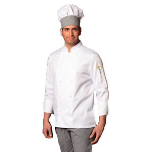 Caricamento dell immagine in corso Giacca-casacca-cuoco-chef-cucina- ristorante-ristorazione-bianca- f1cb859671d1