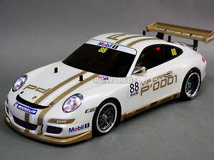 Custom Tamiya 1/10 RC Car PORSCHE 911 GT3 CUP VIP Turbo w/ LED -RTR