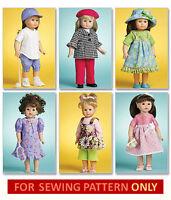 Sewing Pattern Make Doll Clothes Fits American Girl Lanie Softball Uniform