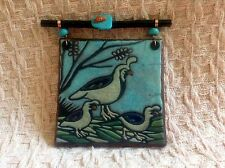 """PARTRIDGE WALL ART BY RAKU A 5"""" WALL PLAQUE FOR YOUR WALL"""