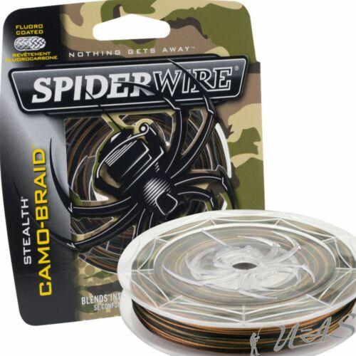 SPIDERWIRE Smooth 8 300M 0.08//7.3kg Camo 8 fach Geflochtene Angelschnur