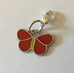 Red-Butterfly-Zip-Charm-Butterflies-Handbag-Bracelet-Enamel-Silver-Zipper-Gift