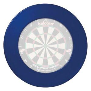Blue-Plain-Dartboard-Dart-Board-Surround-Heavy-Duty-Rubber-Ring-Wall-Protector