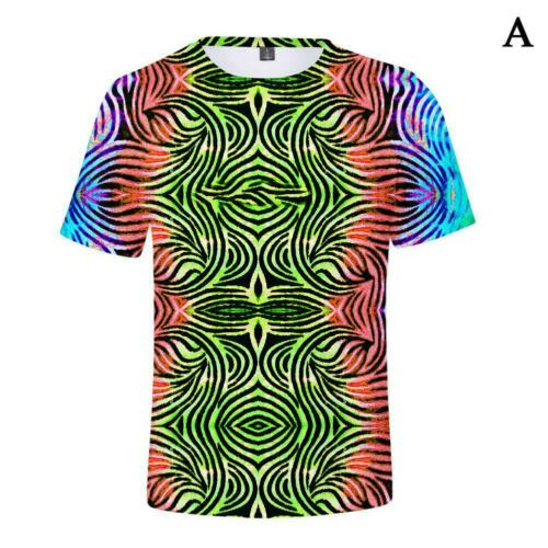 Funny Hypnosis 3d T-Shirt Men Women Colorful Print Casual Short Manche Tee Tops