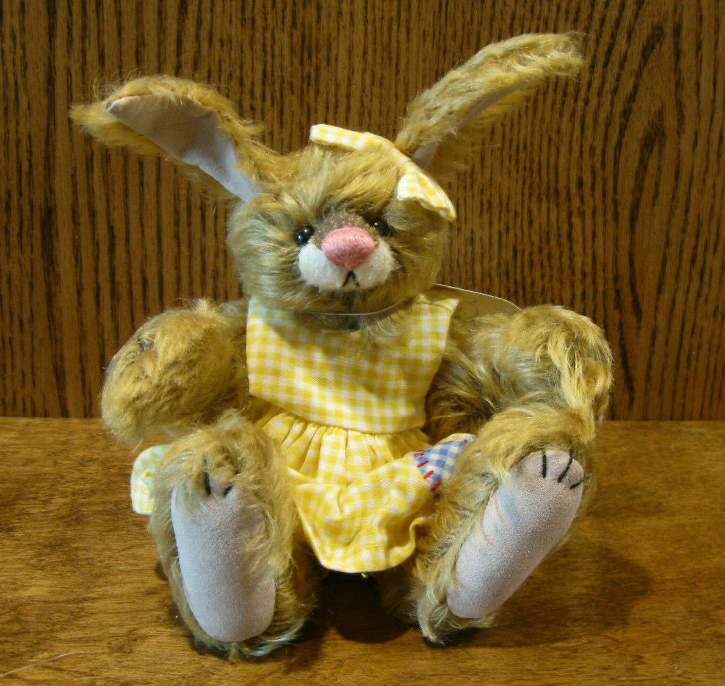 DEB CANHAM ARTIST DESIGNS Bigger Bear, FANCY NANCY, 8  Limited ED Mohair Bunny