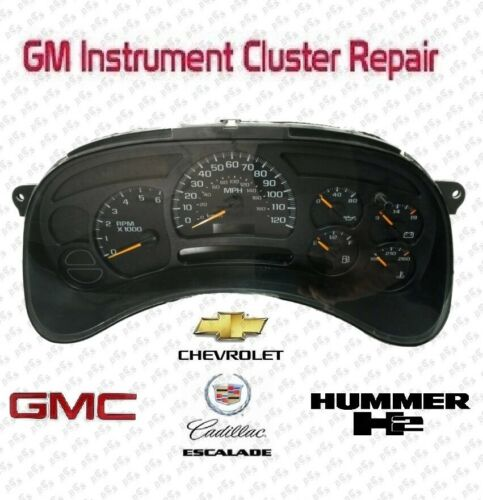 Repair Service 03-06 GM Chevy Silverado Instrument Cluster Gauge Stepper Motor