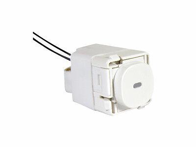 10 Clipsal Impress push button light switch 30PBL blue neon LED indicator 20A 16
