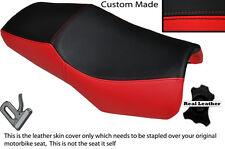 Rojo Y Negro Custom Fits Yamaha Fzs 600 98-04 Diseño 2 Cuero Funda De Asiento