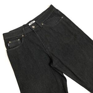 VINTAGE-MOSCHINO-pantaloni-MADE-IN-ITALY-grigio-scuro-screziato-grigio