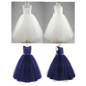 b4deec474956c Flower Girl Dresses Princess Bridesmaid Wedding Tulle Dress Pageant ...
