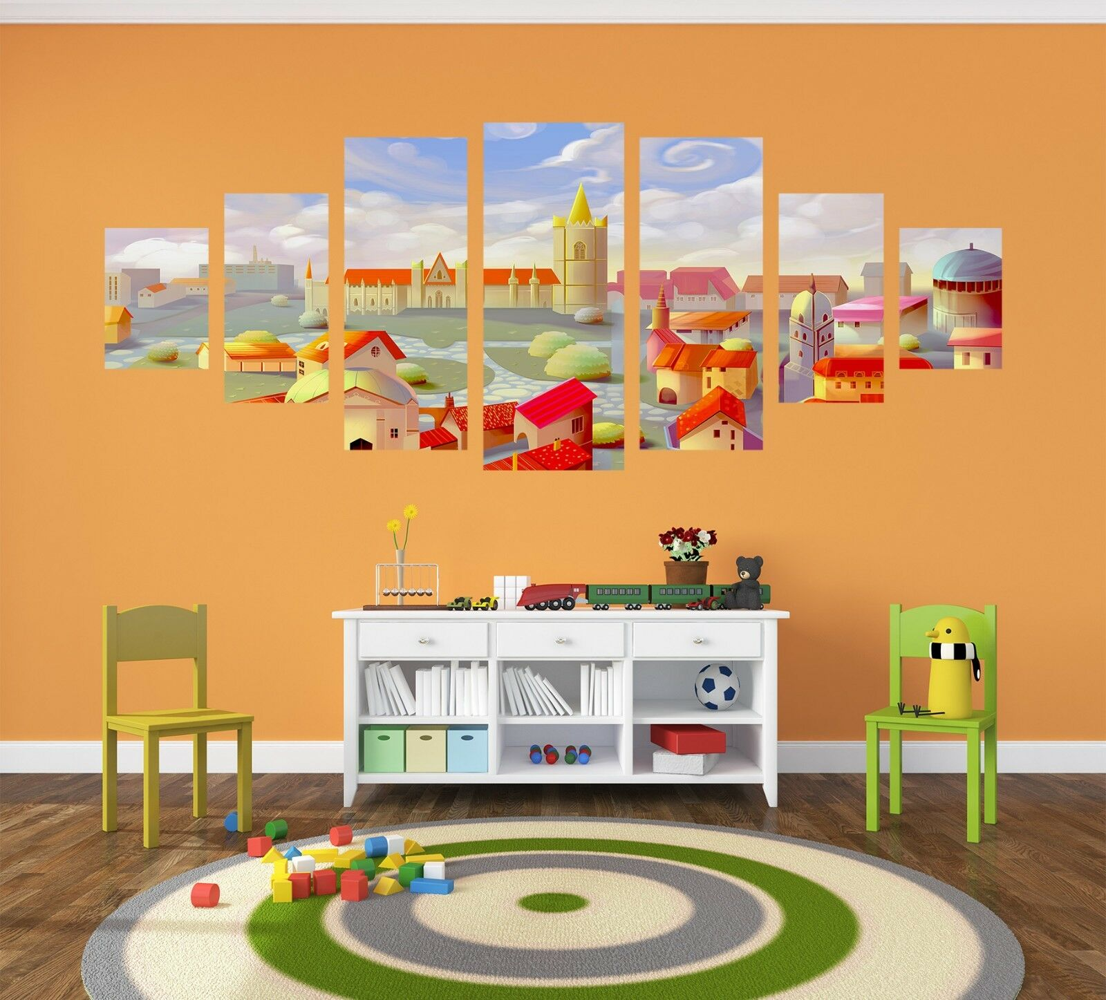 3D color Houses 568 Unframed Print Wall Paper Decal Wall Deco Indoor AJ Wall