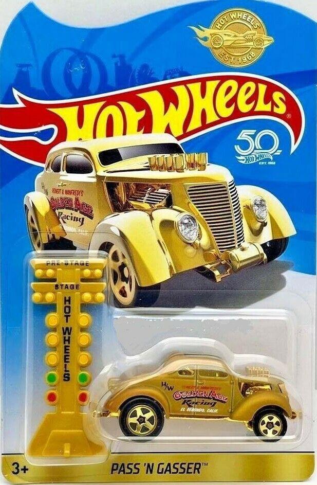 Hot Wheels Voiture 1:64 Pass/' N Gasser des 50 Ans Anniversaire Modèle Or//Gold