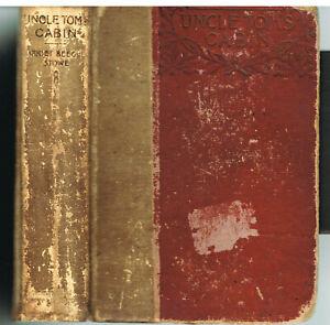 Uncle-Tom-039-s-Cabin-by-Harriet-Beecher-Stowe-1879-Antique-Book