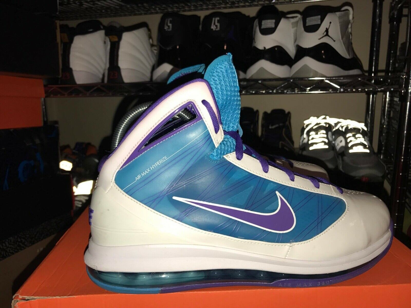 NIKE HYPERIZE MAX DAVID WEST PE WHITE SIZE 11