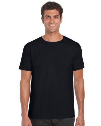 Taille XL GILDAN Noir Heavy pour homme à manches courtes T shirt à encolure ras-du-cou 100/% coton NEUF
