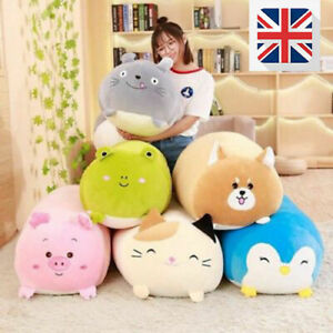 Kids Soft plush pillow cat animal cartoon sleeping Cushions pad lumbar Toy Gift baby soft toys