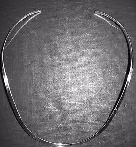 2mm-18-034-Sterling-Silver-U-Shape-Choker-Collar-Cuff-Necklace-Wire-N-C