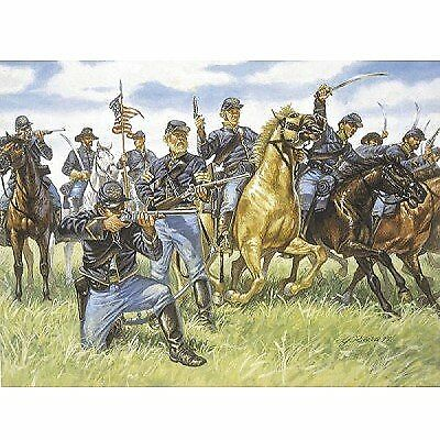 Di Carattere Dolce Union Cavalry The Blue Jackets American Civil War Figures Plastic Kit 1:72 Model