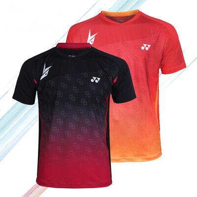 New Lin Dan short sleeve Tops tennis Clothing Men/'s badminton T-shirt