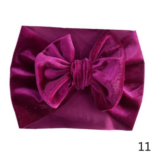 Soft Baby Kids Toddler Bow Haarband Turban Big Knot Head-Wrap neu