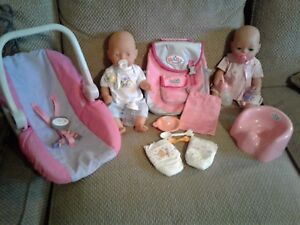 Baby Born Dolls 1991 With Clothes And Accessories Ebay