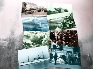 Collection-of-8-x-Vintage-Channel-Island-WW2-Postcards