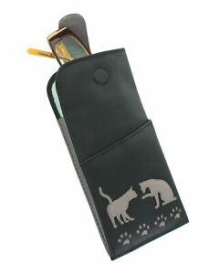 Mala Leather Sophia Collection Soft Leather Glasses Case 5159/_42 Black