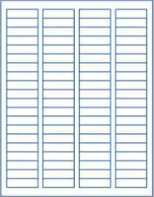 """6 sheets 1/2"""" 1-3/4"""" blank white stickers labels matte unbranded generic"""